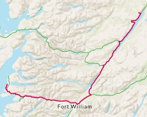 Directions from Advantures to Camusdarach Campsite