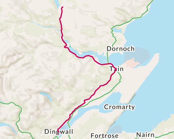 Lairg to Dingwall