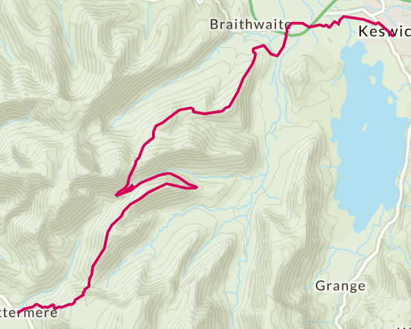 Buttermere to Keswick